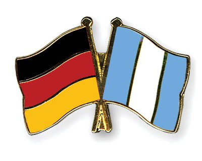 Crossed Flag Pins Germany-Guatemala