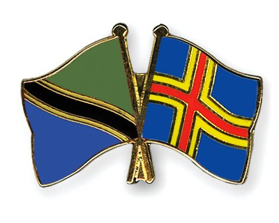 Crossed Flag Pins Tanzania-Aland