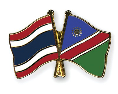 Crossed Flag Pins Thailand-Namibia