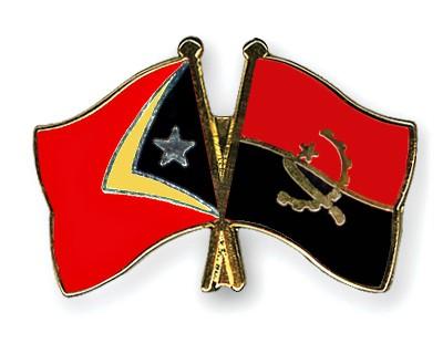 Crossed Flag Pins Timor-Leste-Angola
