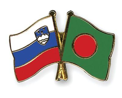 Crossed Flag Pins Slovenia-Bangladesh