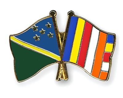 Crossed Flag Pins Solomon-Islands-Buddhism