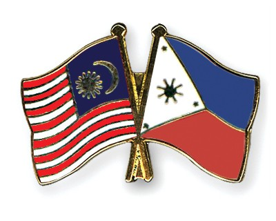 Crossed Flag Pins Malaysia-Philippines