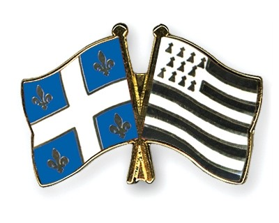Special Offer Crossed Flag Pins Quebec-Brittany