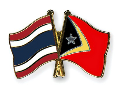 Crossed Flag Pins Thailand-Timor-Leste
