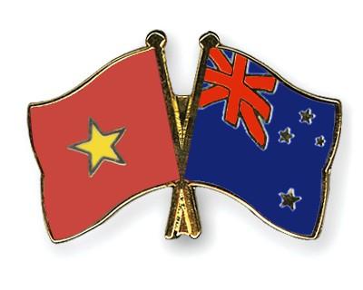 Crossed Flag Pins Vietnam-New-Zealand
