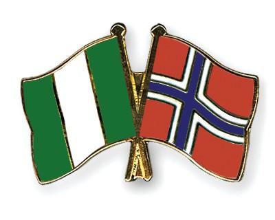Crossed Flag Pins Nigeria-Norway