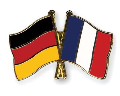 Crossed Flag Pins Germany-France