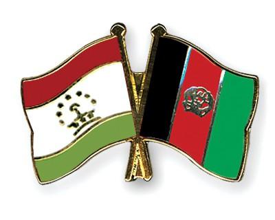 Crossed Flag Pins Tajikistan-Afghanistan