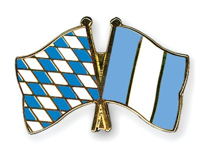 Special Offer Crossed Flag Pins Bavaria-Guatemala