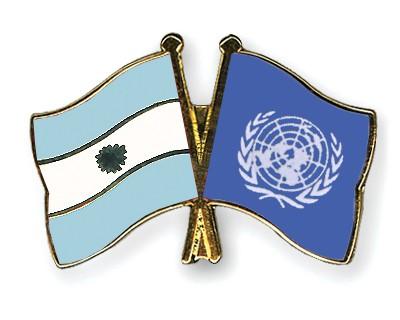 Crossed Flag Pins Argentina-UNO