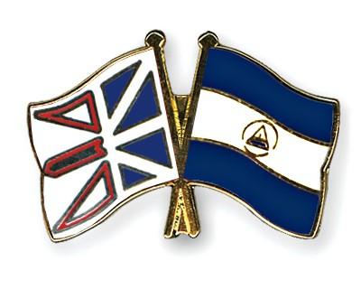 Crossed Flag Pins Newfoundland-and-Labrador-Nicaragua