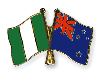 Crossed Flag Pins Nigeria-New-Zealand