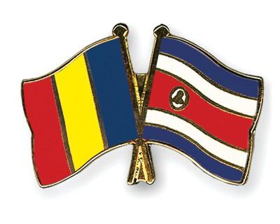 Crossed Flag Pins Romania-Costa-Rica