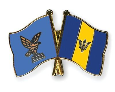 Crossed Flag Pins Friuli-Venezia-Giulia-Barbados