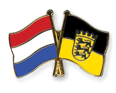 Special Offer Crossed Flag Pins Netherlands-Baden-Wuerttemberg