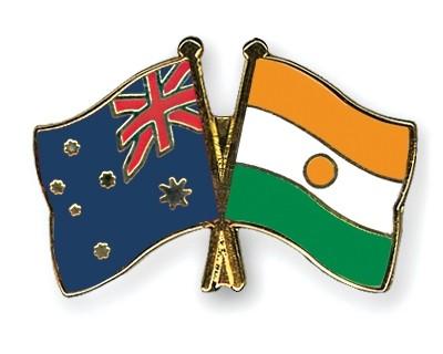 Special Offer Crossed Flag Pins Australia-Niger