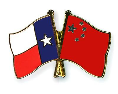 Crossed Flag Pins Texas-China