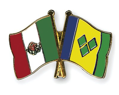Crossed Flag Pins Mexico-Saint-Vincent-and-the-Grenadines