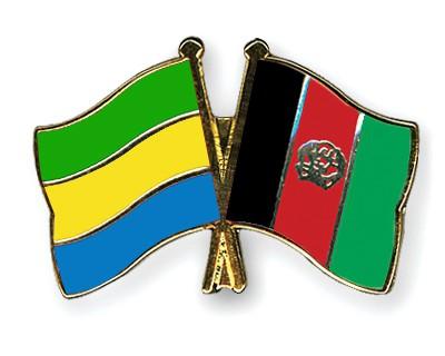 Crossed Flag Pins Gabon-Afghanistan