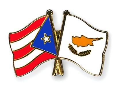 Crossed Flag Pins Puerto-Rico-Cyprus