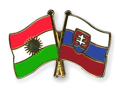 Crossed Flag Pins Kurdistan-Slovakia