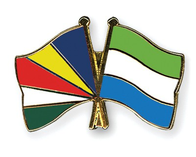 Crossed Flag Pins Seychelles-Sierra-Leone