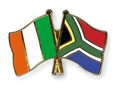Crossed Flag Pins Ireland-South-Africa