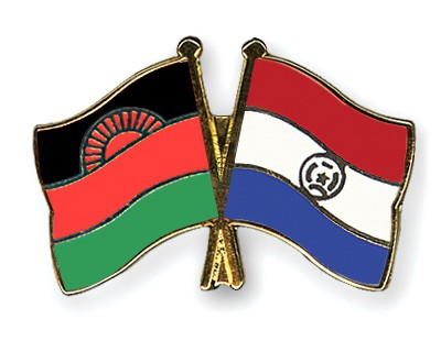 Crossed Flag Pins Malawi-Paraguay
