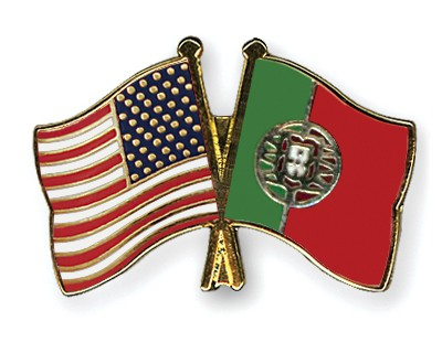 Special Offer Crossed Flag Pins USA-Portugal