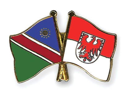 Crossed Flag Pins Namibia-Brandenburg
