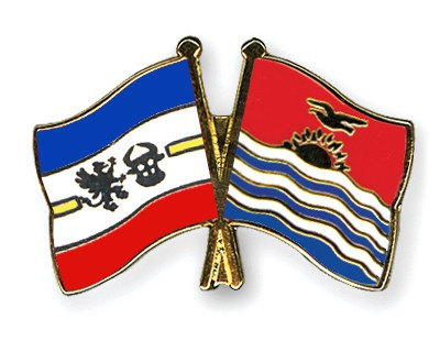 Crossed Flag Pins Mecklenburg-Western-Pomerania-Kiribati