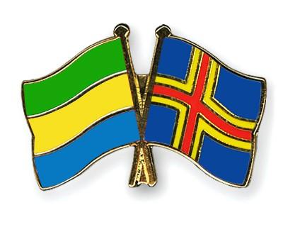 Crossed Flag Pins Gabon-Aland