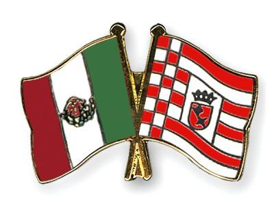Crossed Flag Pins Mexico-Bremen
