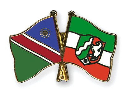 Crossed Flag Pins Namibia-North-Rhine-Westphalia