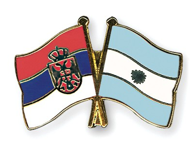 Crossed Flag Pins Serbia-without-Crest-Argentina