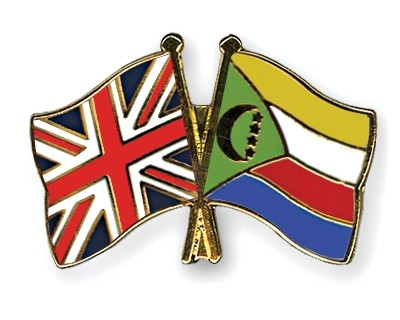 Special Offer Crossed Flag Pins Great-Britain-Comoros