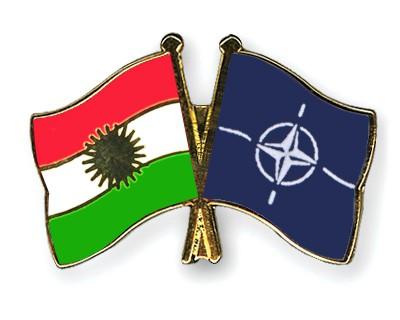 Crossed Flag Pins Kurdistan-NATO