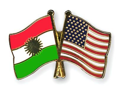 Crossed Flag Pins Kurdistan-USA