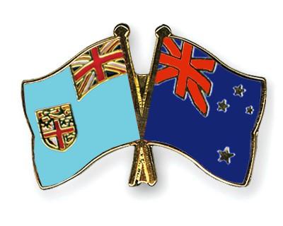 Crossed Flag Pins Fiji-New-Zealand