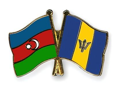 Crossed Flag Pins Azerbaijan-Barbados