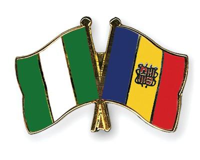 Crossed Flag Pins Nigeria-Andorra