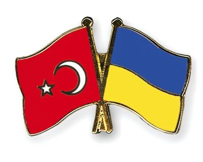 Crossed Flag Pins Turkey-Ukraine