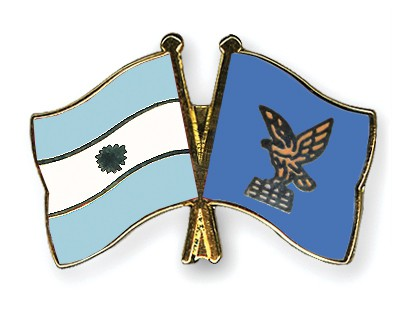 Special Offer Crossed Flag Pins Argentina-Friuli-Venezia-Giulia