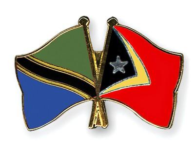 Crossed Flag Pins Tanzania-Timor-Leste