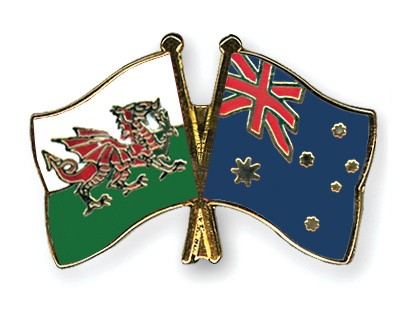 Special Offer Crossed Flag Pins Wales-Australia