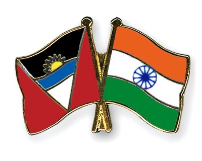 Special Offer Crossed Flag Pins Anitgua-and-Barbuda-India