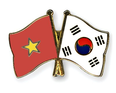 Crossed Flag Pins Vietnam-South-Korea