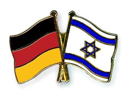 Crossed Flag Pins Germany-Israel