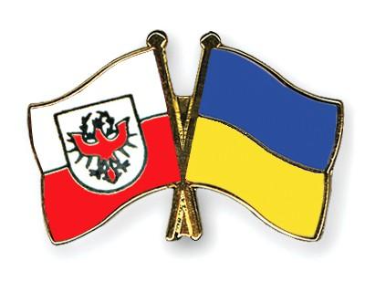 Crossed Flag Pins Tyrol-Ukraine